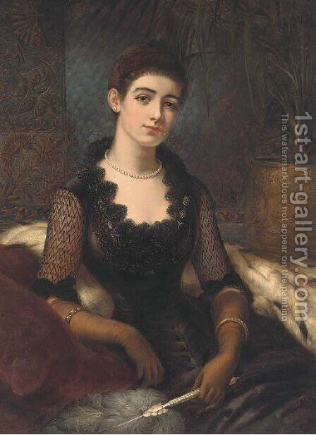A portrait of Mrs James Alexander by Herbert Sidney - Reproduction Oil Painting