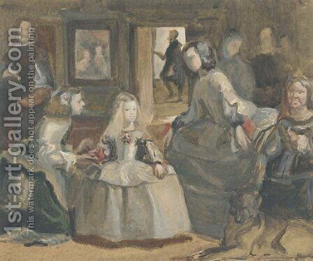 'Las Meninas', after Velasquez by Hercules Brabazon Brabazon - Reproduction Oil Painting