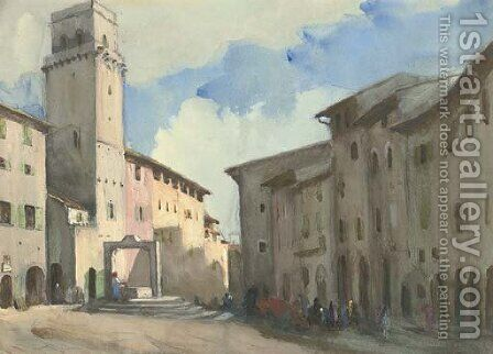 San Gimignano, Italy by Hercules Brabazon Brabazon - Reproduction Oil Painting