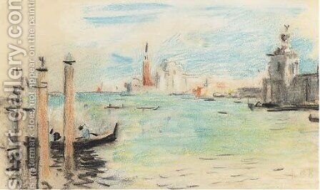 San Giorgio Maggiore from the entrance to the Grand Canal by Hercules Brabazon Brabazon - Reproduction Oil Painting