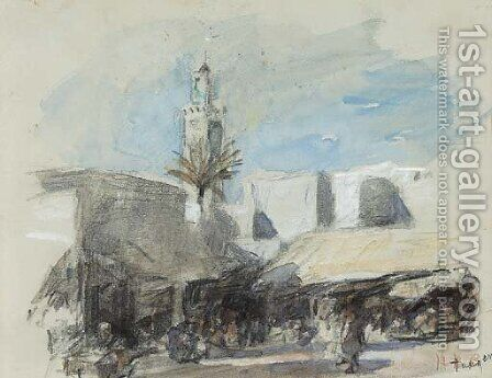 Tangier by Hercules Brabazon Brabazon - Reproduction Oil Painting