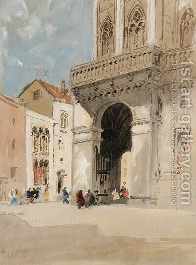 The Cathedral at Trau by Hercules Brabazon Brabazon - Reproduction Oil Painting
