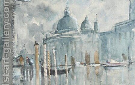 The Grand Canal, Venice by Hercules Brabazon Brabazon - Reproduction Oil Painting