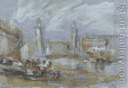 The Lagoon, Venice by Hercules Brabazon Brabazon - Reproduction Oil Painting