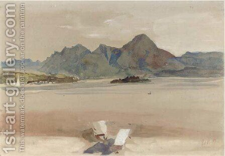 View from Baveno by Hercules Brabazon Brabazon - Reproduction Oil Painting