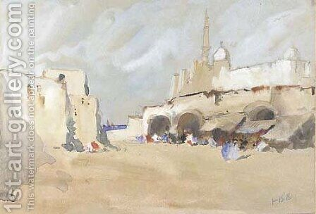 View of Jaffa, Palestine by Hercules Brabazon Brabazon - Reproduction Oil Painting