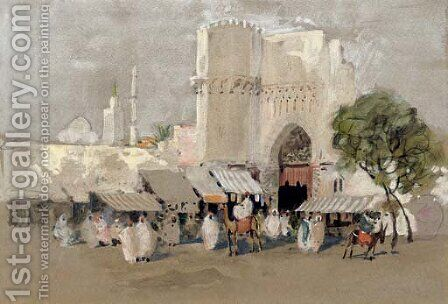 In Morocco by Hercules Brabazon Brabazon - Reproduction Oil Painting