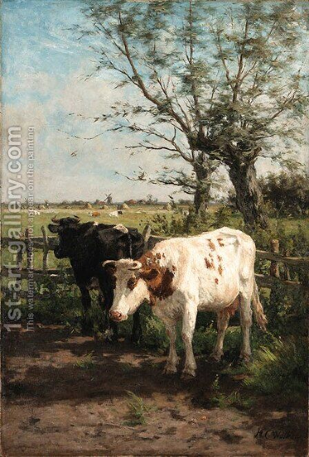 Out to pasture by Hermanus Gerhardus Wolbers - Reproduction Oil Painting