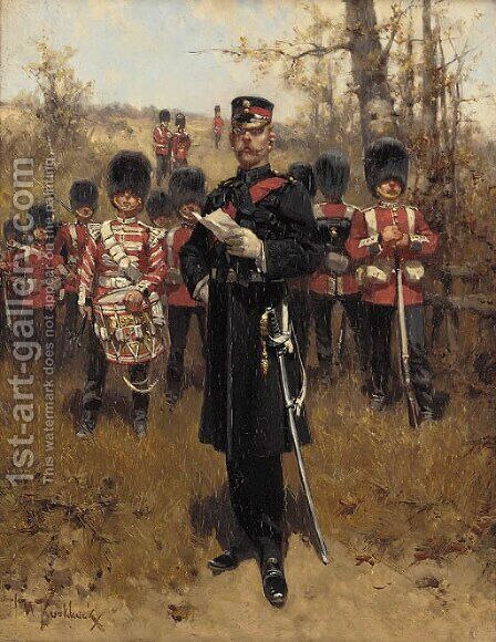 Grenadier Guards by Hermanus Willem Koekkoek - Reproduction Oil Painting