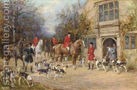 Before the hunt by Heywood Hardy - Reproduction Oil Painting