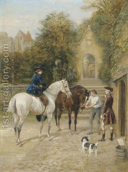 The Morning Ride 3 by Heywood Hardy - Reproduction Oil Painting
