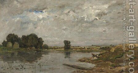 Washing in the river by Hippolyte Camille Delpy - Reproduction Oil Painting