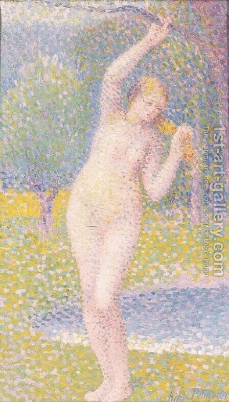 Femme nue debout by Hippolyte Petitjean - Reproduction Oil Painting