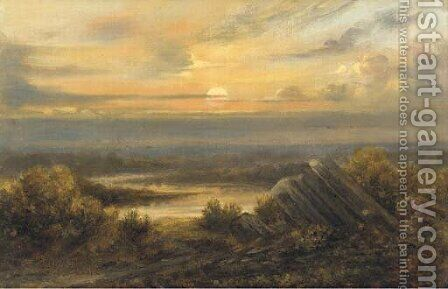 Sunset by Homer Dodge Martin - Reproduction Oil Painting