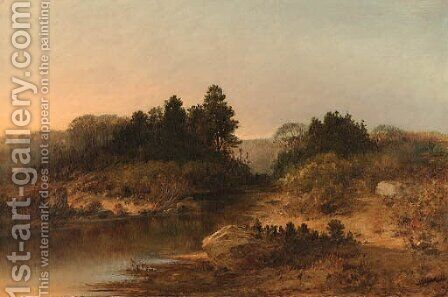 The River at Dusk by Homer Dodge Martin - Reproduction Oil Painting