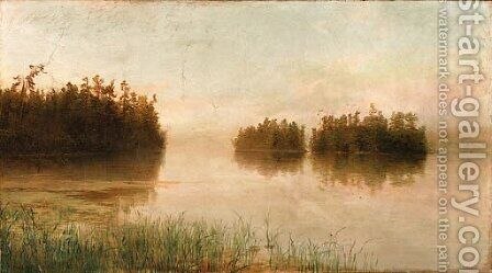 Adirondack Landscape by Homer Dodge Martin - Reproduction Oil Painting