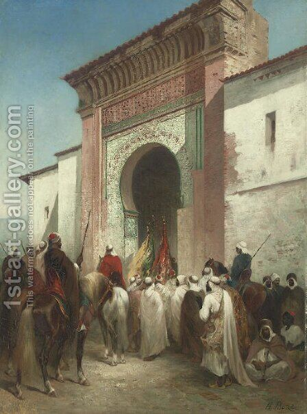 Royal Procession at the Gateway by Honore Boze - Reproduction Oil Painting