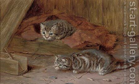 A fascinating tail by Horatio Henry Couldery - Reproduction Oil Painting