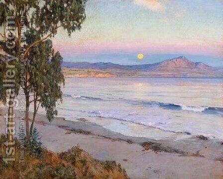 Moonrise, Miramar, California by Howard Russell Butler - Reproduction Oil Painting