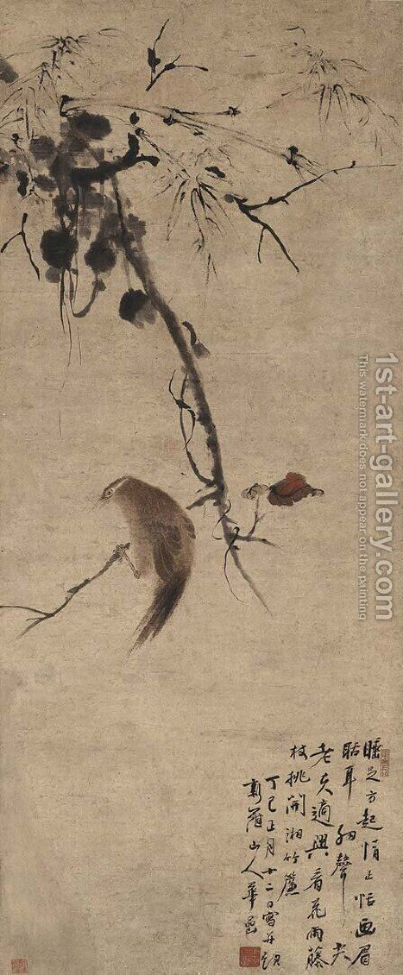 Oriole and Red Leaves by Hua Yan - Reproduction Oil Painting