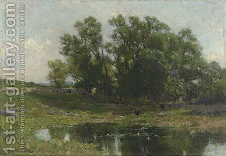 Meadow Stream by Hugh Bolton Jones - Reproduction Oil Painting