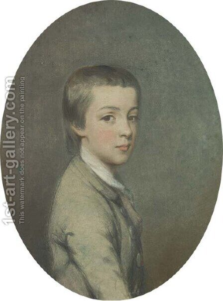 Portrait of a boy by Hugh Douglas Hamilton - Reproduction Oil Painting
