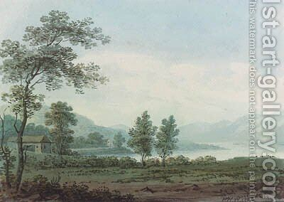 Between Lowwood and Ambleside, Cumbria by Hugh William Williams - Reproduction Oil Painting