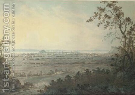 Edinburgh from the Pentland Hills by Hugh William Williams - Reproduction Oil Painting