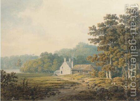 Kilbride, Argyll by Hugh William Williams - Reproduction Oil Painting