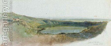 Lake of Nemi by Hugh William Williams - Reproduction Oil Painting