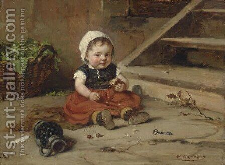Childhood by Hugo Oehmichen - Reproduction Oil Painting