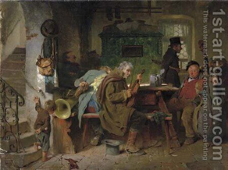 The Musicians by Hugo Kauffmann - Reproduction Oil Painting
