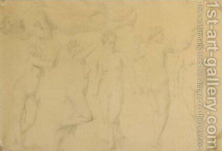 Study of nudes by Ignace Henri Jean Fantin-Latour - Reproduction Oil Painting