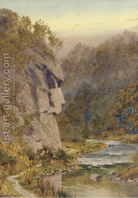 The Great Stone Face, Dovedale, Derbyshire by Isaac Cooke - Reproduction Oil Painting