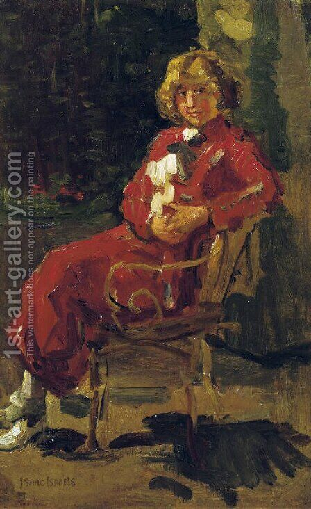A lady in a red dress by Isaac Israels - Reproduction Oil Painting