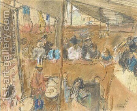 Cabaret in a tent by Isaac Israels - Reproduction Oil Painting