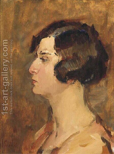 En profile by Isaac Israels - Reproduction Oil Painting