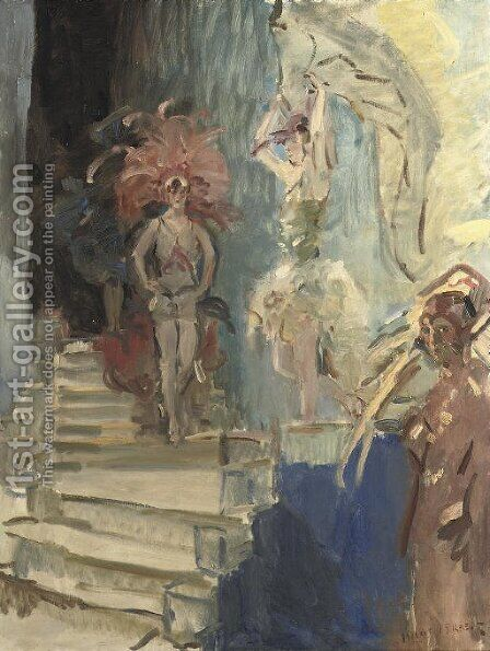 Revue girls at Scala, The Hague by Isaac Israels - Reproduction Oil Painting