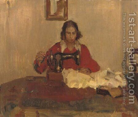 The seamstress by Isaac Israels - Reproduction Oil Painting