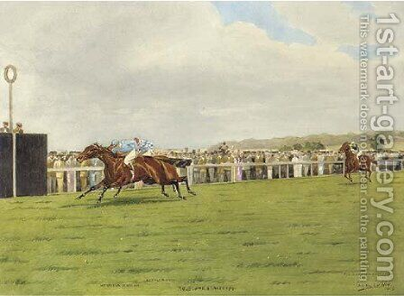 Molecomb Stakes 1914 by Isaac Cullin - Reproduction Oil Painting