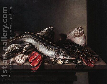 Sturgeon by Isaac van Duynen - Reproduction Oil Painting