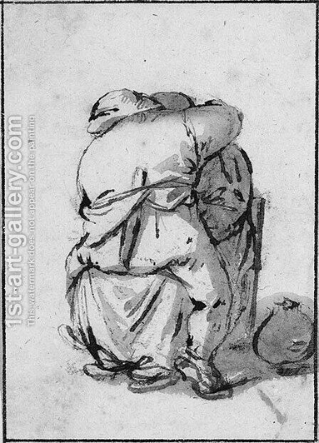 A peasant couple embracing by Isaack Jansz. van Ostade - Reproduction Oil Painting