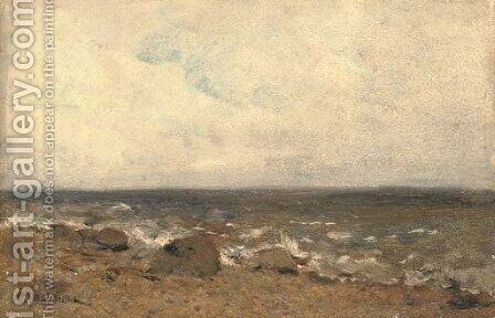 A rocky shore by Isaak Ilyich Levitan - Reproduction Oil Painting