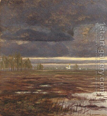 After the storm by Isaak Ilyich Levitan - Reproduction Oil Painting