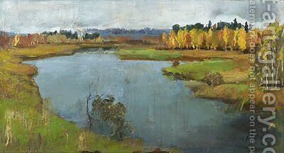 Autumnal Landscape by Isaak Ilyich Levitan - Reproduction Oil Painting