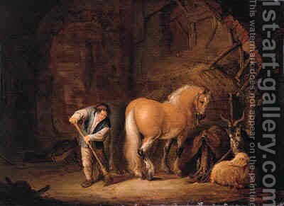 Horses by Isaack Jansz. van Ostade - Reproduction Oil Painting
