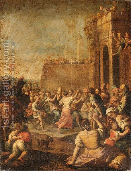 The Triumphal Entry of David into Jerusalem by Italian School - Reproduction Oil Painting