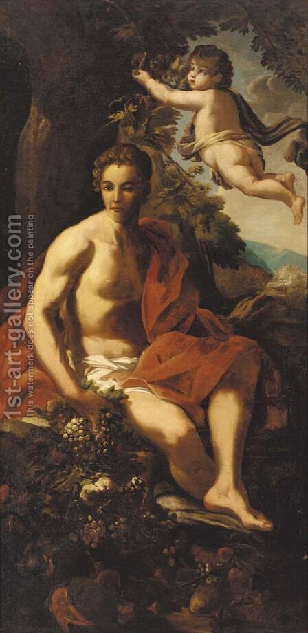 Allegory of Autumn by Italian School - Reproduction Oil Painting