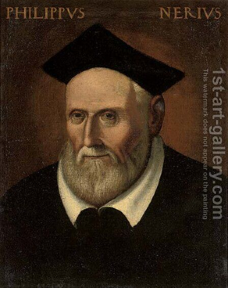 Saint Philip Neri by Italian School - Reproduction Oil Painting