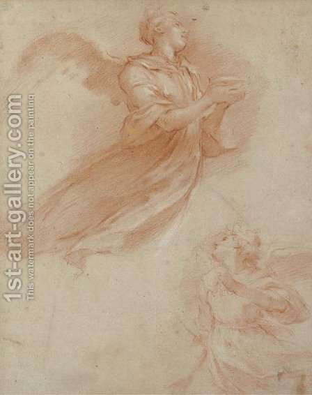 Studies of an angel by Italian School - Reproduction Oil Painting
